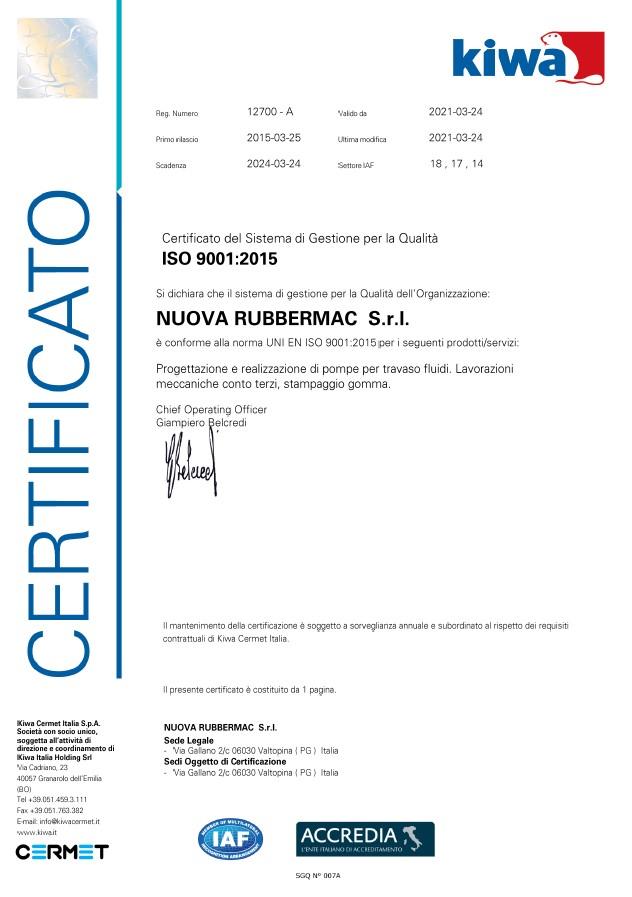 CertificatoKIWA New