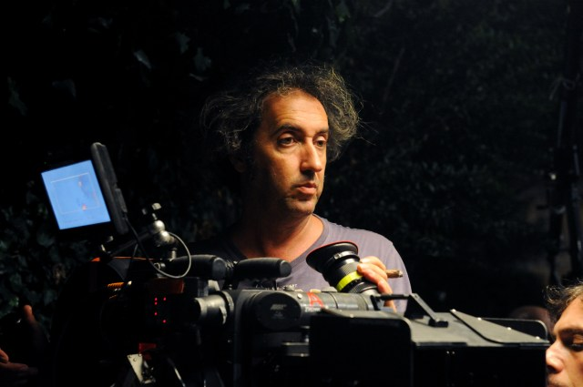 Sorrentino sul set