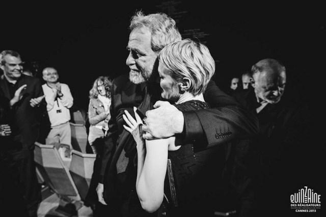 Robin Wright a Cannes con il regista Ari Folman