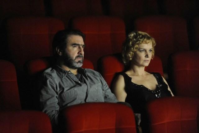 Eric Cantona con Fabienne Babe
