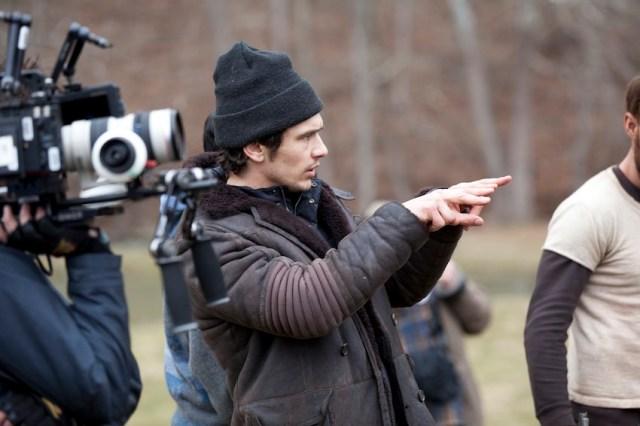James Franco sul set