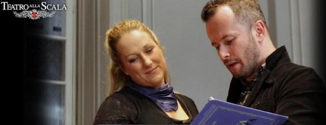 Diana Damrau alle prove con il regista Tchernakov