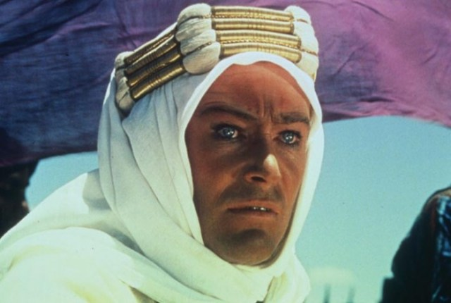 Peter O'Toole in 'Lawrence d'Arabia', 1962.