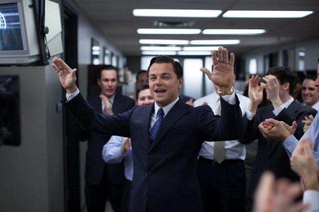 Leonardo DiCaprio in 'The Wolf of Wall Street': nominato.