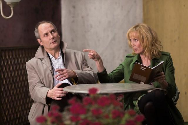 Hyppolite Girardot e Sabine Azéma in 'Aimer, boire et chanter'