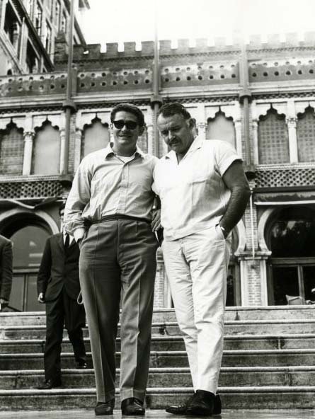 Olmi e Rod Steiger durante il tournage