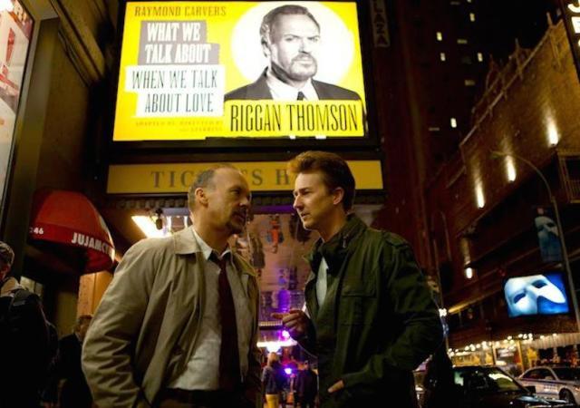 MIchael Keaton e Edward Norton in 'Birdman', film che sarà a Venezia il 27 agosto e al NY festival il 12 ottobre.