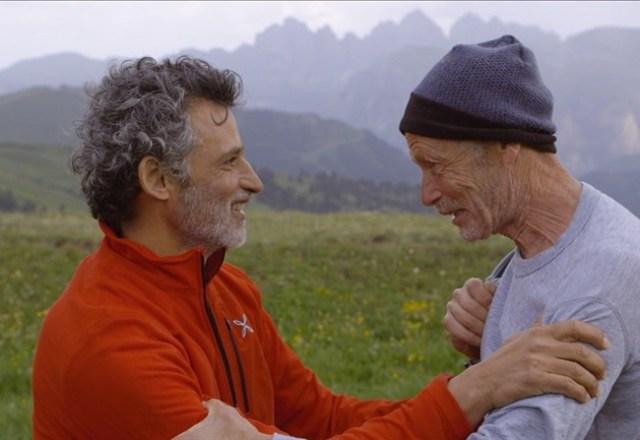 Erri De Luca con Enrico Lo Verso in una scena del film