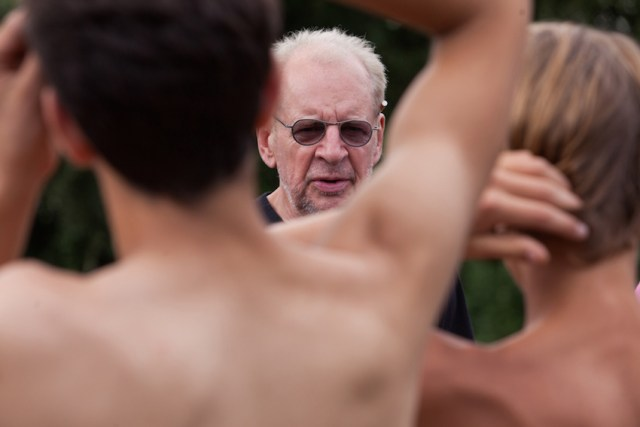Larry Clark sul set di 'The Smell of Us'