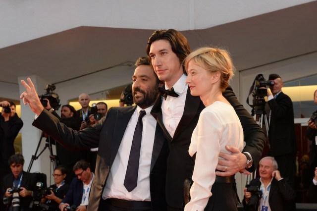 Alba Rohrwacher a Venezia a presentare Hungry Hearts, per cui ha avuto la Coppa Volpi comne migliore attrice. Con lei Adam Deìriver (prmiatio anche lui come migliore attore) e il regista Saverio Costanzo.