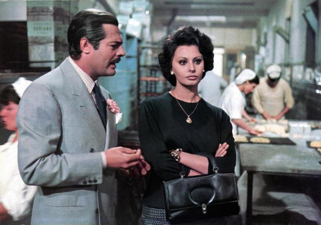 Marcello Mastroianni e Sofia Loren in 'Matrimonio all'italiana'
