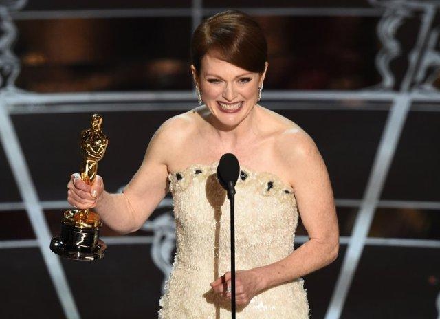 Julianne Moore, premiata per Still Alice dov'è una malata di Alzheimer (foto dal sito dell'Oscar)