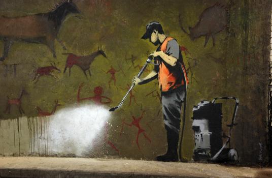 Il primo grande murale in esterni di banksy è the mild mild west, dipinto nel 1997 per coprire una pubblicità nel quartiere di stokes croft. Street Art Graffiti Murales Il Confine Tra Arte E Vandalismo