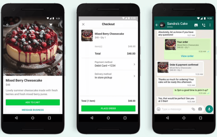 How to buy a product - service using the WhatsApp shopping button -place order