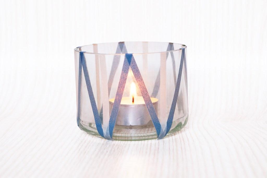 Fünf Minuten Kerzenleuchter mit Washi Tape 2