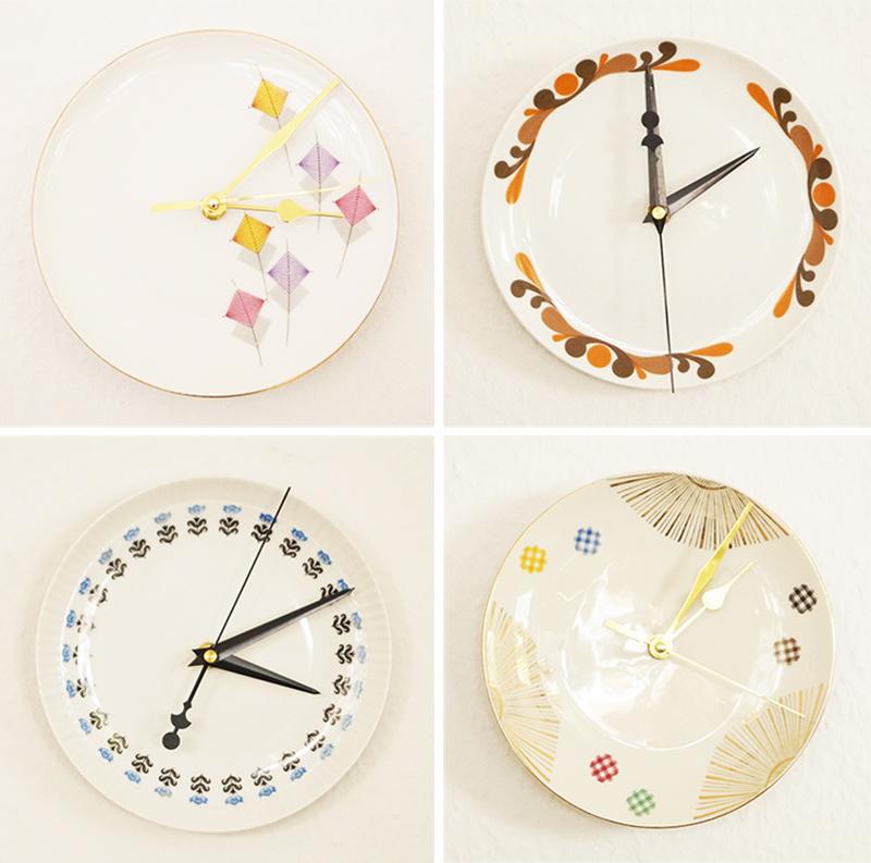 Uhr aus Teller