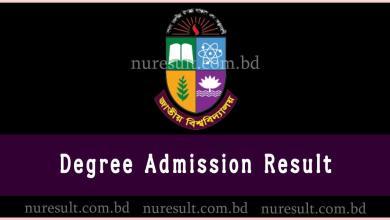 NU Degree Admission Result
