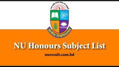 NU Honours Subject List
