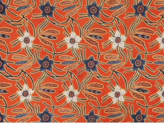 Motif Batik Bunga Plum