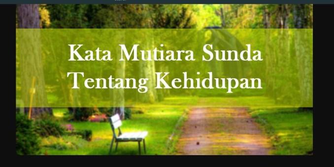 Kata Kata Bahasa Sunda Tentang Kehidupan