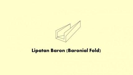 Lipatan Baron (Baronial Fold)