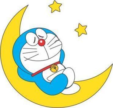 Doraemon Tidur Di Bulan Sabit