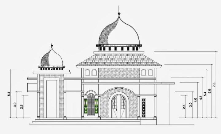 Gambar Sketsa Masjid Minimalis