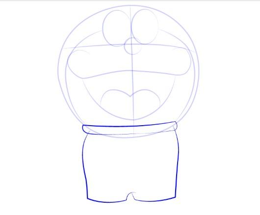 Menggambar Sketsa Doraemon