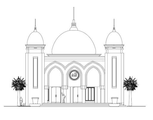 Sketsa Masjid Minimalis