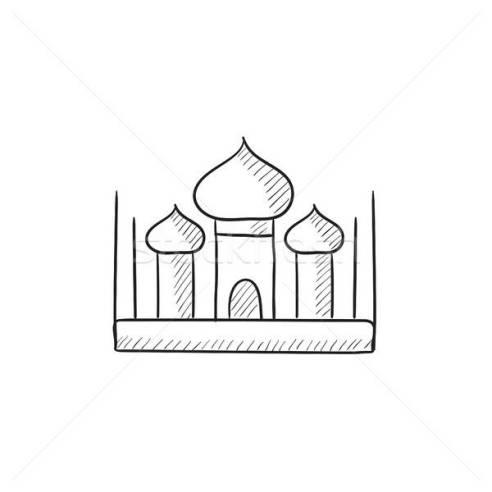 Sketsa Masjid Sederhana