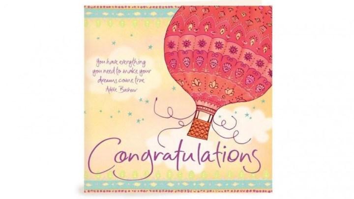 Contoh Gambar Greeting Card Congratulations