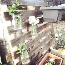 Jardinera con palet