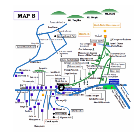 Mapa Koyasan