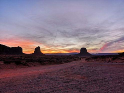 Atardecer en Monument Valley