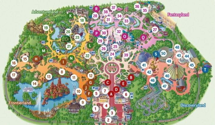 Mapa Disneyland Paris