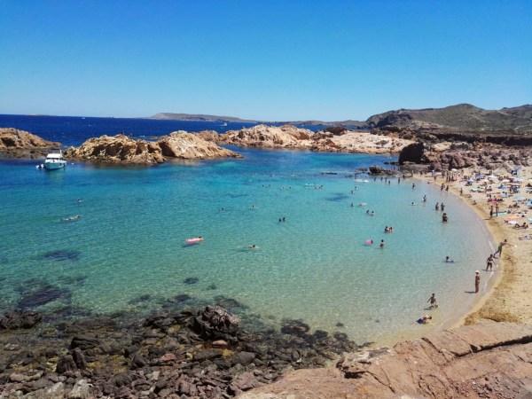 Las mejores playas de Menorca Cala Pregonda