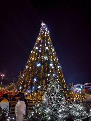 El abeto de la villa navideña