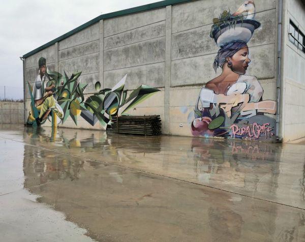 mural de arte callejero en Penellas