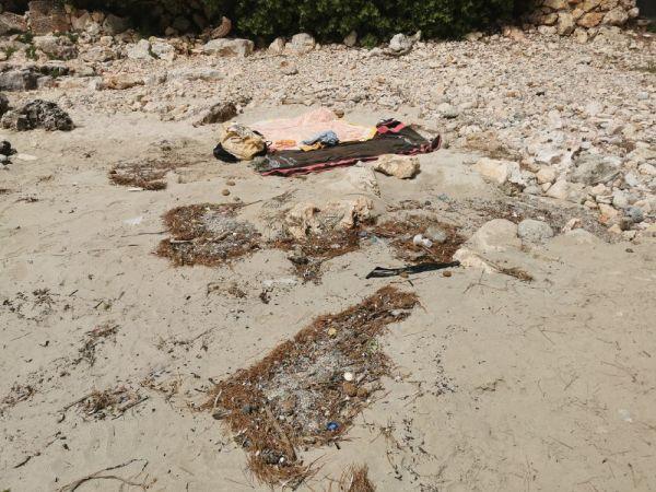 basura en la playa de Mallorca