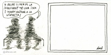 Idees / Let's see when the illustrator has an idea and we can go inide the panel...