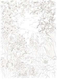 花園の塗り絵