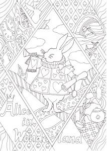 アリスのうさぎの塗り絵です