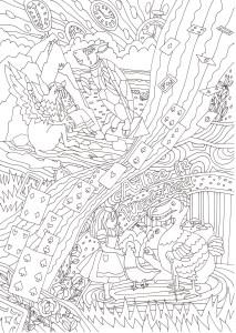 アリスのドードー鳥の塗り絵