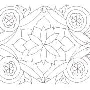花のマンダラ塗り絵