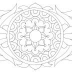 草花のマンダラ塗り絵