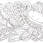 おめかしカエルと模様の塗り絵