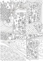 和紋様の構成の塗り絵