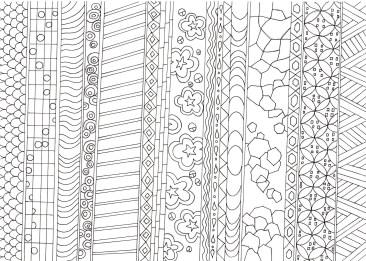 縞の和紋様の塗り絵