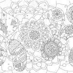 魚と花の塗り絵