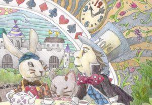 アリスの塗り絵の拡大図